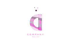 Ci c i alphabet letter logo pink purple line icon template vecto Royalty Free Stock Images