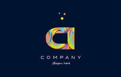Ci c i colorful alphabet letter logo icon template vector Royalty Free Stock Photography