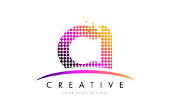 CI C I Letter Logo Design with Magenta Dots and Swoosh Stock Photos