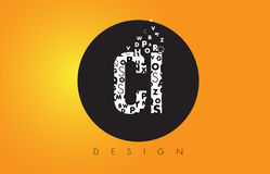 CI C I Logo Made of Small Letters with Black Circle and Yellow B Royalty Free Stock Photo