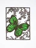 cięcie motyli papier Obraz Stock
