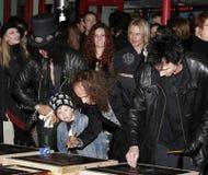 Cięcie, Ronnie James Dio i Terry Bozzio, Obraz Royalty Free