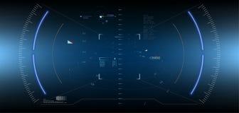 Ci-fi HUD Display rougeoyant futuriste Écran de technologie de réalité de Vitrual Photo libre de droits