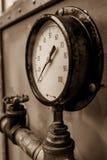 Ciśnieniowy wymiernik Czyta Zero Zdjęcia Stock