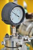 Ciśnieniowy wymiernik dla pomiarowego naciska w systemu, Ropa i gaz proces Obrazy Stock