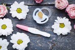 Ci??owy test z kwiatami obraz royalty free