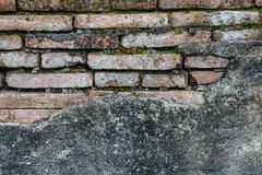 Ci?rrese para arriba de una ladrillo-pared, fondo de la textura Foto de archivo