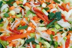 cięte warzywa Zdjęcie Stock