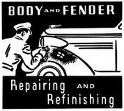 Ciała I Fender naprawianie ilustracji