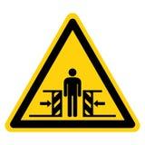 Cia?a przyduszenia si?a Od Dwa stron symbolu znaka Odizolowywa Na Bia?ym tle, Wektorowa ilustracja ilustracja wektor