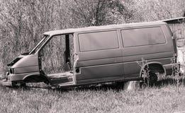 Ciało łamany samochód po wypadku fotografia stock