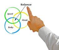 Ciało, duch, umysł równowaga obrazy stock