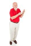 ciało folujący mężczyzna odtwarzacz mp3 senior fotografia royalty free