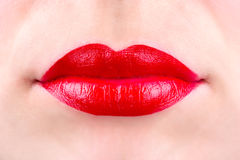 ciało kobiece części ust miłości Fotografia Stock