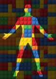 Ciało ludzkie - bezszwowy wektoru wzór plastikowe części Fotografia Stock