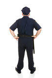 ciało pełne oficer policji z tyłu obraz stock