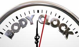 Ciało zegaru zdrowie Wellness życia długowieczności słowa Zdjęcie Royalty Free