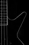 Ciało ablack basowa gitara Fotografia Royalty Free