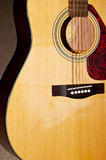 ciało akustyczna gitara zdjęcia stock