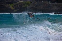 Ciało deskowy surfingowiec Zdjęcie Royalty Free