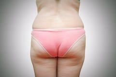 Ciało gruba kobieta Zdjęcie Royalty Free