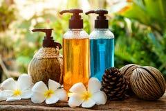 Ciało opieki produkt, prysznic i szampon, Obraz Royalty Free