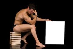 ciało reklamowy deskowy budowniczy Fotografia Stock