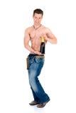 ciało szampana majstra budowlanego Fotografia Royalty Free