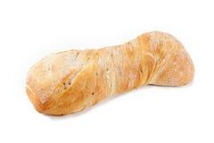 Ciabatta面包。隔绝在白色背景 库存图片