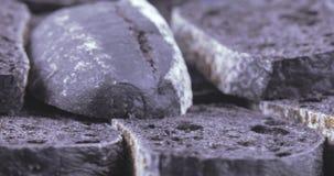 Ciabatta är en svart skiva stock video