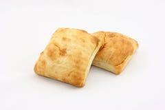 在ciabatta美食上添面包 免版税库存照片