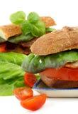 Ciabatta Bacon Sandwiches Royalty Free Stock Photo