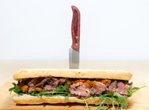 Ciabatta beef sandwich Stock Image