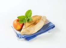 Ciabatta bread and apple Royalty Free Stock Photos