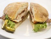 Ciabatta bread blt sandwich Stock Photo