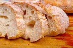 Ciabatta bread on board Stock Image