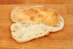 Ciabatta bread on a board Stock Photo