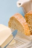 Ciabatta bread and butter for breakfast Stock Photo
