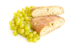 Ciabatta bread and grapes Royalty Free Stock Photo