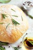 Ciabatta bread with rosemary Royalty Free Stock Photos