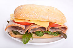 Ciabatta bread sandwich Stock Photography