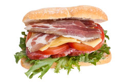 Ciabatta bread sandwich Stock Images