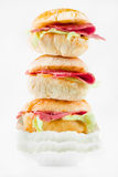 Ciabatta bread sandwich with ham Royalty Free Stock Image