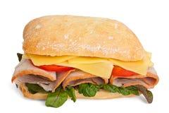 Ciabatta bread sandwich Stock Image