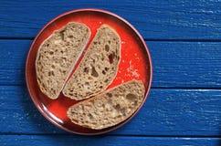 Ciabatta bread sliced Royalty Free Stock Photography