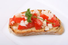 Ciabatta Bread V. A picture of a ciabatta brad on a plate Royalty Free Stock Images