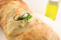Ciabatta Brot und Olivenöl Lizenzfreie Stockbilder