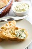 Ciabatta con mantequilla de hierba Imagen de archivo