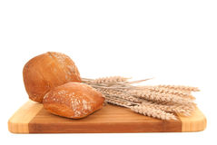Ciabatta on cutting board Royalty Free Stock Image