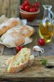 Ciabatta del pan fresco Fotografía de archivo